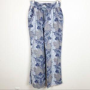 Rewash Lounging Coverup Pants Linen Blend XL Q